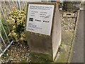 TR0446 : Plaque for Wye Bridge by Stephen Craven