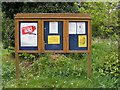 TM4088 : All Saints Church Notice Board by Adrian Cable