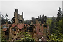 NU0702 : Chimneys on Cragside House by Bill Boaden