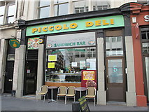TQ3282 : The Piccolo Deli, Goswell Road, EC1 by Mike Quinn
