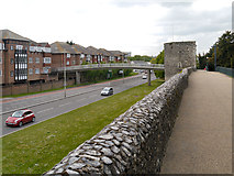 TR1457 : Canterbury City Wall, Pin Hill by David Dixon