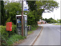 TM4087 : Telephone Box & Redisham Road Postbox by Adrian Cable
