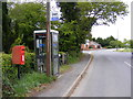 TM4087 : Redisham Road Postbox & Telephone Box by Adrian Cable