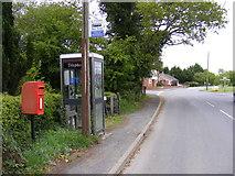 TM4087 : Redisham Road Postbox & Telephone Box by Adrian Cable
