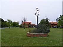 TM4087 : Ringsfield Village sign by Adrian Cable