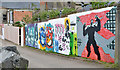 J5081 : Art mural, Bangor by Albert Bridge