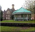 SO3014 : Gazebo in Parc Pen-y-Fal, Abergvenny by Jaggery