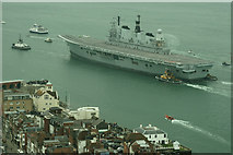 SZ6299 : Farewell to HMS Ark Royal (9) by Peter Trimming