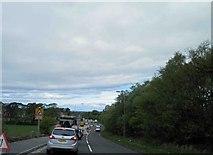 NS3618 : Roadworks on the A713 near Ayr hospital by Steve  Fareham