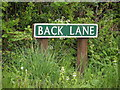 TG1523 : Back Lane sign by Adrian Cable
