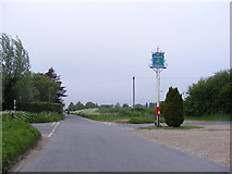 TG1422 : Easton Way, The Ratcatchers Arms Public House sign & Postbox by Adrian Cable