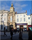 SO5140 : Grade II listed Market Hall entrance and clock tower, Hereford by Jaggery