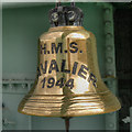 TQ7569 : Ship's Bell, HMS Cavalier by David Dixon