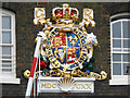 TQ7568 : George I Coat of Arms, Chatham Royal Docks by Susan Dixon