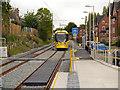 SJ8591 : Metrolink Tram Approaching Didsbury Village by David Dixon