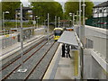 SJ8492 : West Didsbury Tram Station by David Dixon