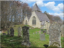 NY9449 : St. James's Church and churchyard, Hunstanworth by Mike Quinn