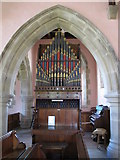 NY9449 : St. James's Church, Hunstanworth - organ by Mike Quinn