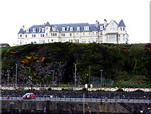 NW9954 : Shearings hotel from Portpatrick harbour by Norman Caesar
