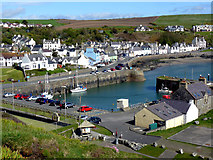 NW9954 : Portpatrick harbour from Southern Upland Way by Norman Caesar