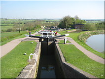 SP6989 : Grand Union Canal: Leicester Section: Foxton Staircase Locks by Nigel Cox
