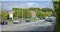 SD6529 : The A677 Blackburn road at its junction with the ring road by Ian Greig