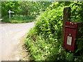 ST6321 : Corton Denham: postbox № DT9 55, Wheatsheaf Hill by Chris Downer