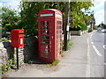 ST6412 : Longburton: postbox № DT9 79 and phone by Chris Downer