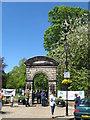 NY9364 : Entrance to the Abbey Gardens in Hexham by James Denham