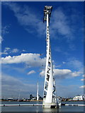 TQ3979 : Support Tower, Emirates Cable Car by Chris Heaton
