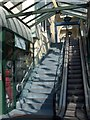 SX9163 : Stairs and escalator, Fleet Walk, Torquay by Derek Harper