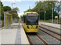 SJ8392 : Metrolink Tram at Withington by David Dixon