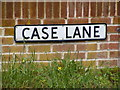 TM1036 : Case Lane sign by Adrian Cable