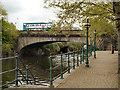 SE2933 : River Aire, Victoria Bridge at  Leeds by David Dixon