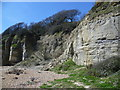 TQ8813 : Subsidence along the cliffs at Cliff End, Fairlight by Marathon
