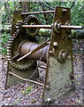 SD4880 : The old winch at The Dog Hole near Storth by Karl and Ali