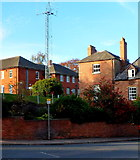 SO5923 : Ross-on-Wye police station communications mast by Jaggery