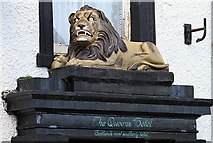 NX1336 : The Queens Hotel lion at Drummore by Walter Baxter