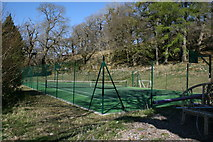 NM6356 : Tennis Court, Rahoy House by Peter Bond