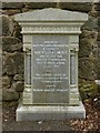 NS4763 : Memorial to William Low by Lairich Rig