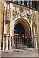TL4458 : West door, King's College Chapel by Philip Halling