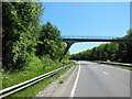 SX5057 : Footbridge over the A38 west of Eggbuckland Road by Ian S