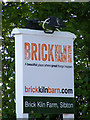 TM3667 : Brick Kiln Barn sign by Adrian Cable