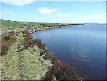SE0429 : Footpath alongside Haigh Cote Dam by Humphrey Bolton
