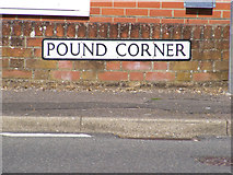 TM4679 : Pound Corner sign by Adrian Cable