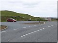 HU2752 : Car park and bus shelter at Murraster by Oliver Dixon