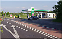TL5646 : Filling station on the Linton by-pass by M H Evans