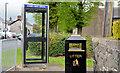 J2287 : Telephone box and litter bin, Parkgate by Albert Bridge