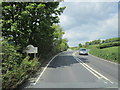 SX4472 : The A390 near Hanging Cliff Wood by Ian S