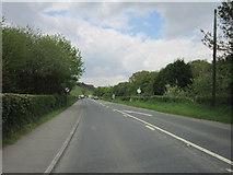 SX4975 : The A386 near Higher Hazeldon Bridge by Ian S